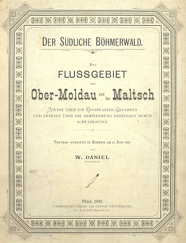 Obálka (1892) jeho knihy