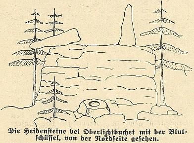 Obětní kameny v Horních Světlých Horách