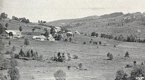 Dolní Světlé Hory na pohlednici Josefa Seidela