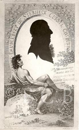 Silueta Franze Eusebia Daublebskyho (1750-1815), od roku 1788 až do své smrti purkmistra Českých Budějovic