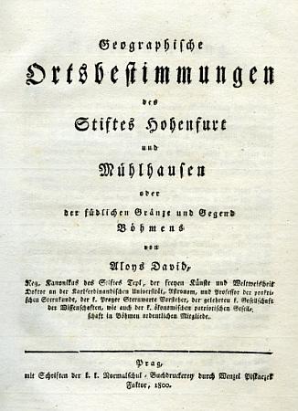 Titulní list (1800) dalšího vydání jeho práce