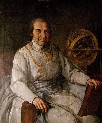 Jeho rektorský portrét z roku 1816 s admirální sférou, rektorským řetězem a záslužnou medailí s řetězem akřížem, udělenou mu císařem Františkem I.