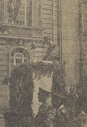Při projevu 6. června 1943 - třída Na Sadech byla právě přejmenována na Reinhard-Heydrich-Ring