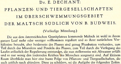 Úvod jeho příspěvku v Ročence Vlastivědné společnosti jihočeské za rok 1929