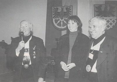 Při zahájení Chebských kulturních setkání (vlevo s mikrofonem)