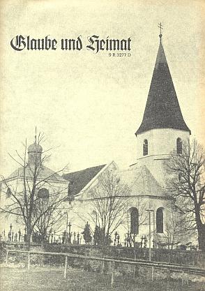 Kostel sv. Tomáše v Horním Nýrsku na obálce krajanského časopisu z listopadu roku 1961