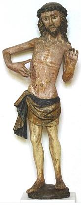 Bolestný Kristus z Horního Dvořiště, dnes ve sbírce středověkého umění Alšovy jihočeské galerie v Hluboké nad Vltavou
