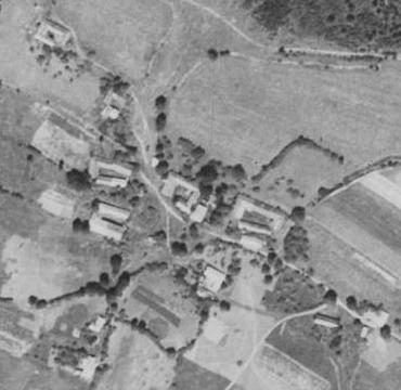Horní Světlá na leteckých snímcích z let 1952 a 2011