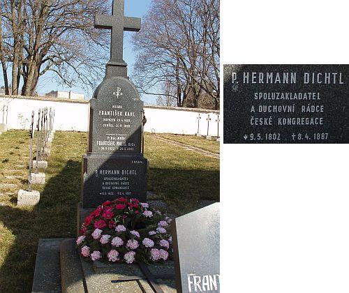 Jeho hrob na božím poli sester boromejek v Praze 17 - Řepy