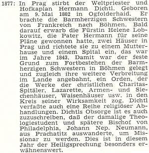 Vzpomínka 100. jubilea úmrtí v krajanském časopise je dílem Hanse Hölzla