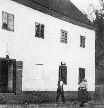 """Rodný """"Böhm-Haus"""" čp. 10 v zaniklém Jablonci"""