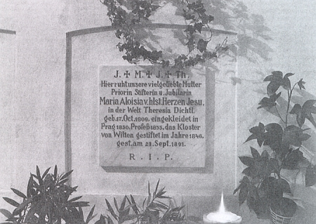 Její hrob v Innsbrucku