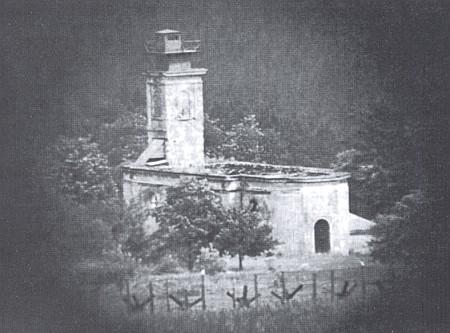 V Pavlově Studenci se kostel v padesátých letech proměnil nahlásku Pohraniční stráže