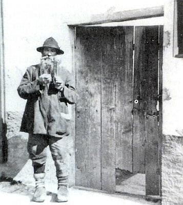 """""""Schwaomer (Almer) Konrad"""", poslední šumavský poustevník"""