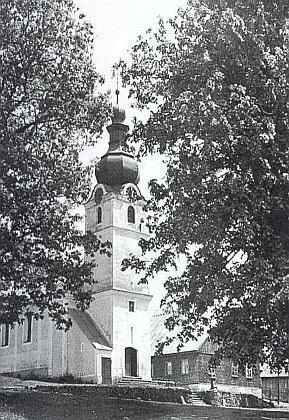 Kostel v zaniklé dnes Lučině kdysi, když se obec nazývala Grafenried (viz i Hans Hölzl)