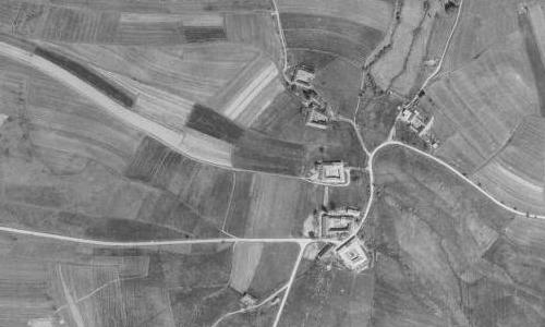 Rodná Polečnice na leteckých snímcích z let 1947 a 2008