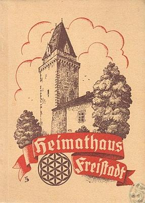 Obálka (1950) jeho průvodce sbírkami muzea ve Freistadtu