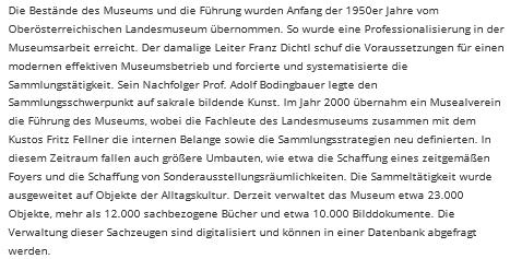 I o něm na webových stránkách freistadského muzea