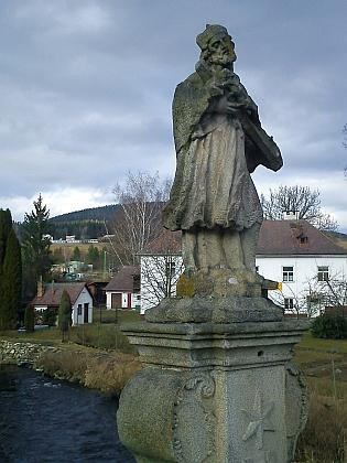 Socha sv. Jana Nepomuckého ve Vyšším Brodě
