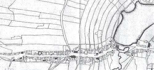 Tolik domů měla Železná ještě na indikační skice z roku 1838