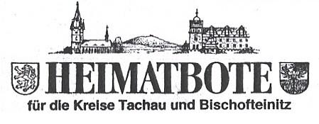 Záhlaví listu Heimatbote, kam psal