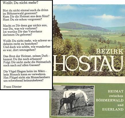 Jeho báseň jako frontispis knihy Bezirk Hostau (1977) vydané nakladatelstvím Wagner v Marktredwitz