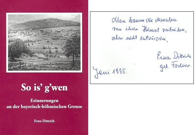 Obálka její vlastním nákladem vydané knihy s osobním věnováním autorčiným