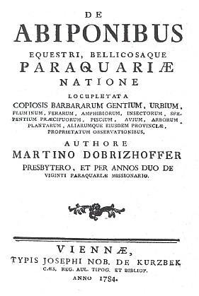 Titulní list (1784) originálního vydání jeho knihy