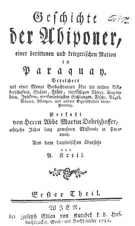 Titulní list (1783) německého vydání knihy