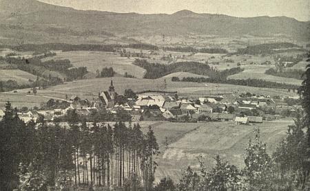 Celkový pohled na rodné Horní Dvořiště