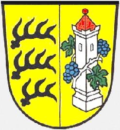 Znak německého města Marbach am Neckar, kde zemřel a je i pochován