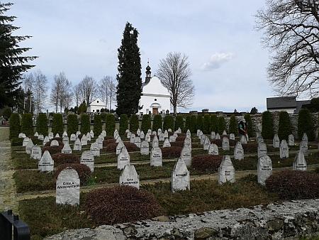 Devadesát pět obětí tohoto pochodu smrti je uloženo na volarském hřbitově