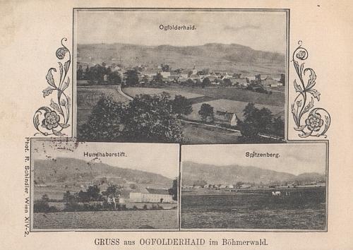 """I Bozdova Lhota měla """"svou"""" pohlednici - zde jako jedna z výsečí """"složené"""" pohlednice zaniklého Jablonce"""