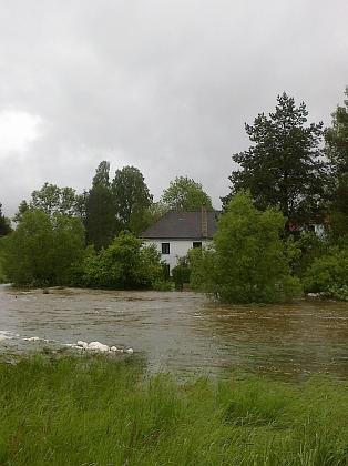 Velká voda na Olšině v červnu 2013