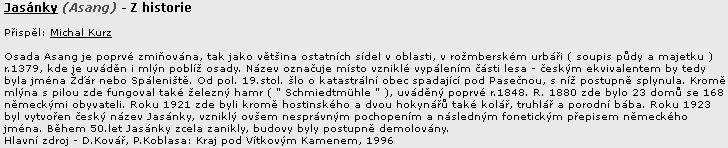 ... a ještě něco o českém umělém místním jméně Jasánky