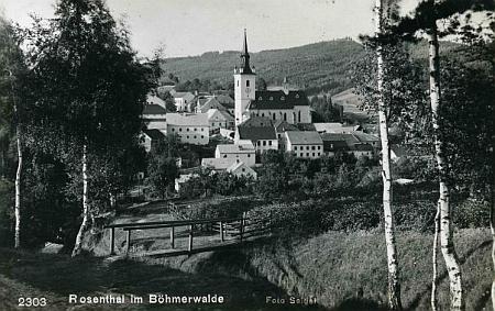 Rožmitál na Šumavě na pohlednici Franze Seidela