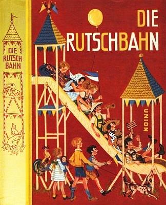 Přední strana vazby jeho dětské knihy (1957, Union Verlag) svýrazným motivem kohouta na jejím hřbetu