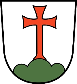 Znak jeho rodného města Landsberg am Lech