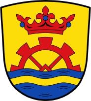Znak obce Marzling, kde zemřel