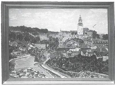 Olejomalba Helmuta Doyschera Náš Krumlov