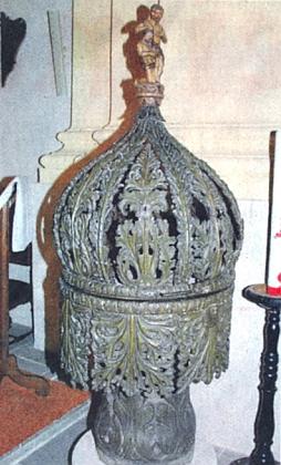 křitelnice v kostele Nanebevzetí Panny Marie v Kynšperku nad Ohří