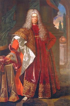 Kníže Adam František ze Schwarzenberga (1680-1732), jemuž byl Drescherův dopis adresován, a jeho žena  Eleonora Amalie, roz. z Lobkowicz (1682-1741)