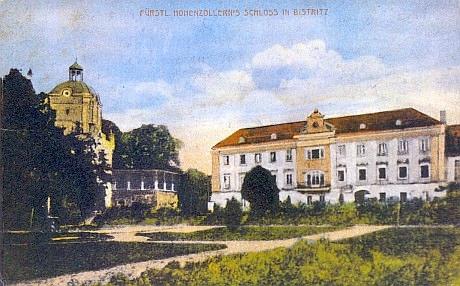 Bystřice nad Úhlavou - zámek Hohenzollernů, pohlednice