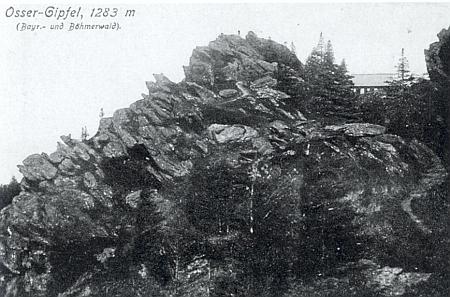Pohlednice udávající i výšku horského vrcholu