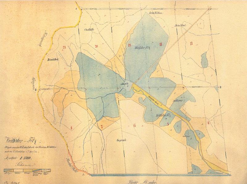 ... a její mapka z roku 1921