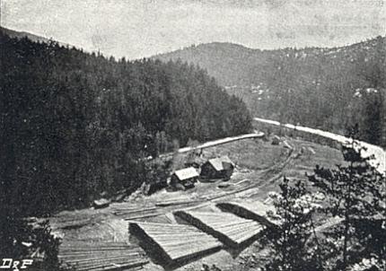 Od Pavlovy louky, ležící mezi Rejštejnem a Čeňkovou pilou a zachycené tu na vzácném snímku Leo Richtera, byla Otava splavná