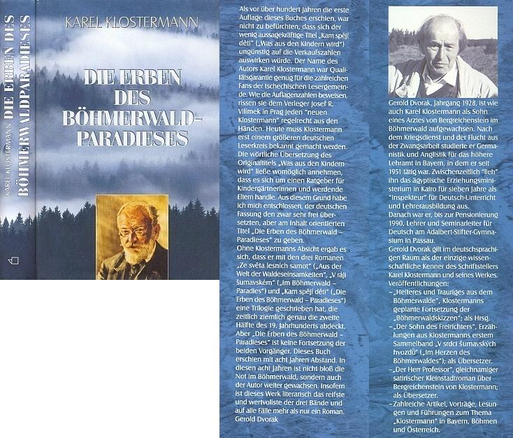 Obálka (2002) překladu, věnovaného právě jí a vyšlého v roce manželovy smrti (nakladatelství Buch- und Kunstverlag Oberpfalz, Amverg)