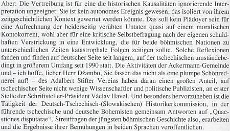 """Georg. R. Schroubek v rozhovoru s ním připomíná roli Adalbert Stifter Verein a tedy i Džambovu, na objektivní reflexi """"odsunu"""""""