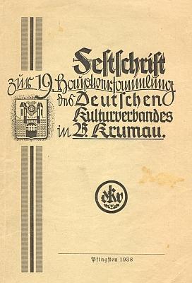 Na seznamu čestného výboru Německého kulturního svazu o svatodušních svátcích 1938 vČeském Krumlově je vedle mnoha jmen, která jsou zastoupena na webových stránkách Kohoutího kříže, pod číslem 16 i okresní školní inspektor Wilhelm Eben