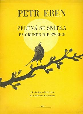 Obálka malíře Oty Janečka (1967) k hudebnině s Ebenovými písněmi pro dětský sbor, kterou vydalo Státní hudeby